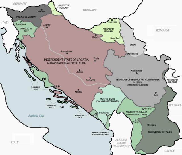 Podział Jugosławii w czasie II wojny światowej