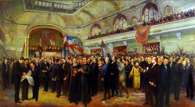 Wielkie Zgromadzenie Narodowe Serbów, Buniewców i Chorwatów z Banatu, Bački i Baranji, które 25 XI 1918 roku zadecydowało w Nowym Sadzie o przyłączeniu do Serbii