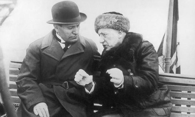 D'Annunzio i Mussolini.